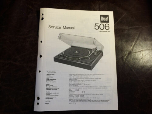 Dual Turntable Original Service Manual Factory Repair Schematic