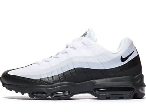 Authenticnike AIR MAX 95 Ultra Essential Uomini Taglia UK 10 11 Nero Bianco