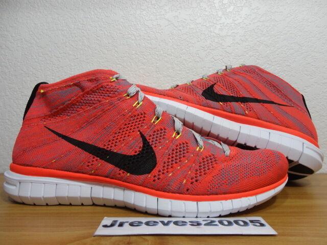 Nike Free Flyknit Chukka BRIGHT CRIMSON Sz 10 100% Authentic Retro 639700 600