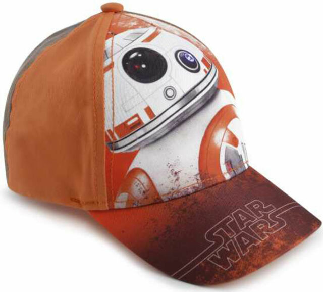 5e61d673 Boys Disney Star Wars BB-8 Robot Character Orange Baseball Cap Size 52cm or  54cm