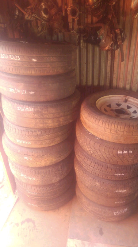 We sell seconhand tyres