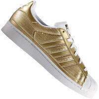 adidas Originals Superstar Damen-Sneaker Gold Metallic Turnschuhe Sportschuhe