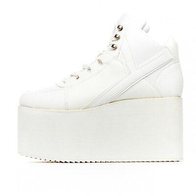 NIB Y.R.U. YRU White QOZMO High Platform Sneaker SIZE 6, 7, 8, 9, 10 -SALE