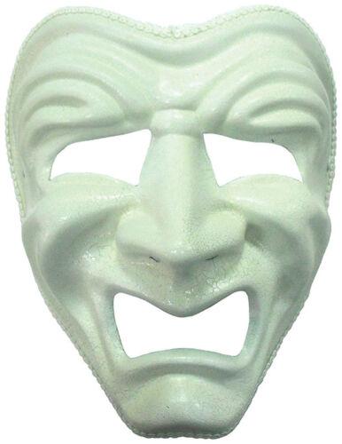 Maschera VISO #Sad Bianco Costume Festa Accessorio Adulto