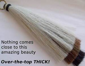Horsehair Shoo Fly, horsehair tassel, 3 layers, thick, O-Ring, Shu fly tassel