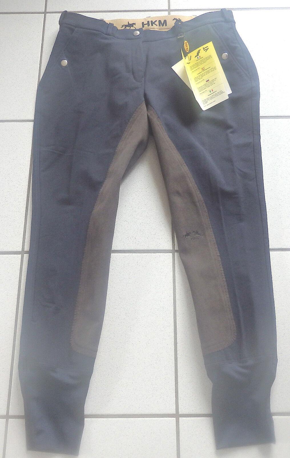 HKM Donna Pantaloni Montala, 34 guarnizione in pieno, Tg. 44, Blu scuro, 04113