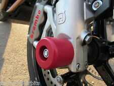 HUSQVARNA NUDA 900R CRASH MUSHROOM FRONT AXLE FORK SLIDERS BUNGS BOBBINS RED S4D