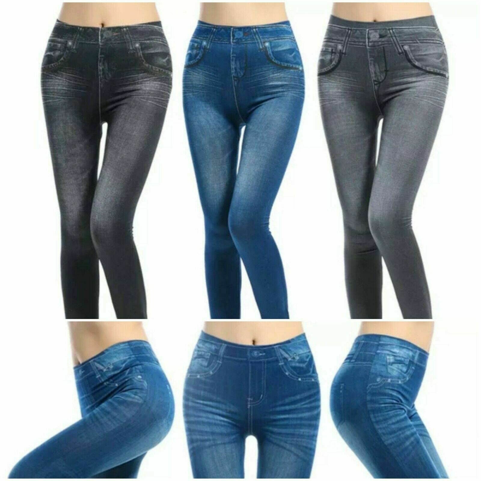 3 X THANE SLIM N LIFT CARESSE JEANS SKINNY JEGGINGS SHAPEWEAR SLIMMING CONTROL