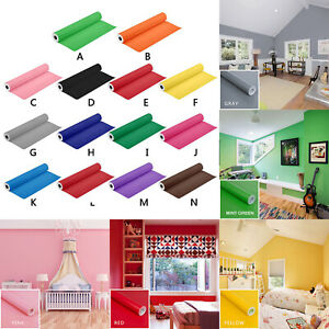 Details about PVC Self Adhesive Pure Color Wall Sticker Home Room Kitchen  Cabinet Decor Decals