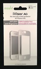 NEW!! Moshi iVisor AG Anti Glare Screen Protector for iPhone 4 / 4S - White