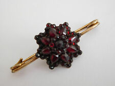 Victorian silver gilt Bohemian garnet raised star brooch / pin