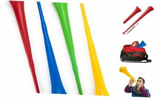 Pudgy Pedro/'s Plastic Vuvuzela Stadium Horns 26-Inch 4-Pack