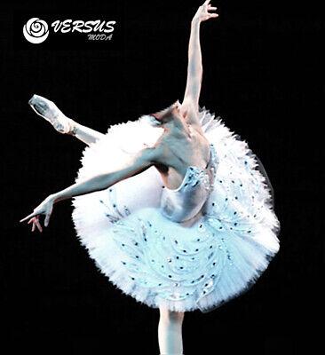 Generoso Vestito Tutù Saggio Danza Bambina Donna Woman Girl Ballet Tutu Dress Danc148