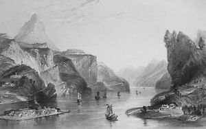 CHINA-Hea-Hills-in-Quang-Tong-Province-1840-Antique-Print-Engraving-T-Allom