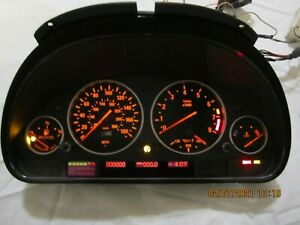 BMW E39 M5 cluster ''ultimate'' MPH  black face virginized with 0 miles