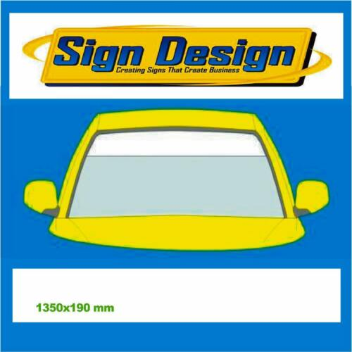 1350 mm 190 mm offre spéciale Matt White Sun Strip voiture decals Graphics stickers