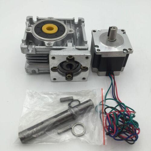 1 10:1 15:1 20:1 30:1 motor gradual L56mm Worm Reductor de caja de cambios Nema 23 proporción de 7.5