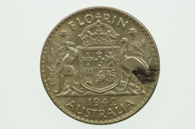 1942 Florin Over-stamp Metal Peel Variety in Extremely Fine Condition