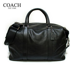 Item 2 Nwt Coach F54765 Duffle Voyager In Leather Black Msrp 695 00