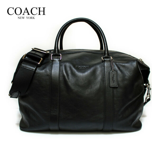 b45a90ddc0 Coach Mens Voyager Duffle Travel Bag Sport Calf Leather Black F54765 ...