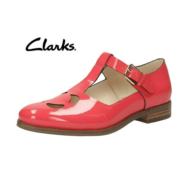 Orla Kiely Clarks Bobbie Coral Red