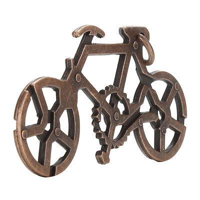 1X Alloy Bike Lock Puzzle Brain Tester IQ Test Kids Adults Intelligent Toys LWY