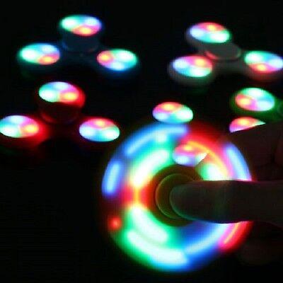 LED Light Fidget Tri-Spinner Focus Toys ABS Finger Ball For Kids//Adult SC