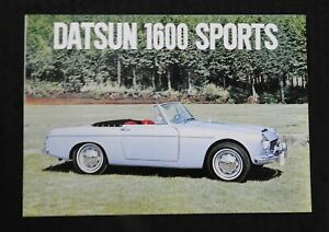 "1963 ""DATSUN MODEL 1600 SPORTS CAR"" CONVERTIBLE SALES BROCHURE RARE & MINTY"