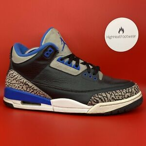 Nike Air Jordan 3 Retro Sport Blue 2014-UK 7.5/US 8.5/EU 42