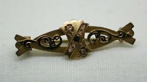 Edwardian-Hallmarked-1902-Beautiful-9-Carat-Gold-Brooch