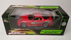 Rare-Racing-Champions-Ertl-The-Fast-And-The-Furious-1993-Mazda-RX7-1-18-Red
