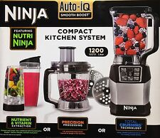 Nutri Ninja Blender System BL490UK2 with Auto-iQ & 1.2L 1200W Compact System NEW
