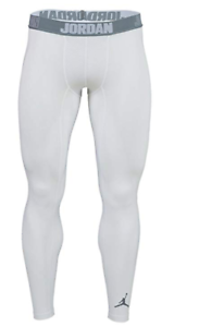 Détails sur Nike Air Jordan Drifit Entraînement Collant Pantalon BlancGris Cool Homme 2XL