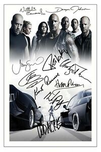 FAST   AND FURIOUS 8 CAST X10 SIGNED PHOTO PRINT AUTOGRAPH POSTER ... 10ee2349ef