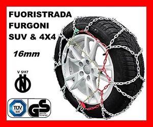 CATENE DA NEVE PER FURGONI E SUV OMOLOGATE 16MM MISURA PNEUMATICO 235/50 R19