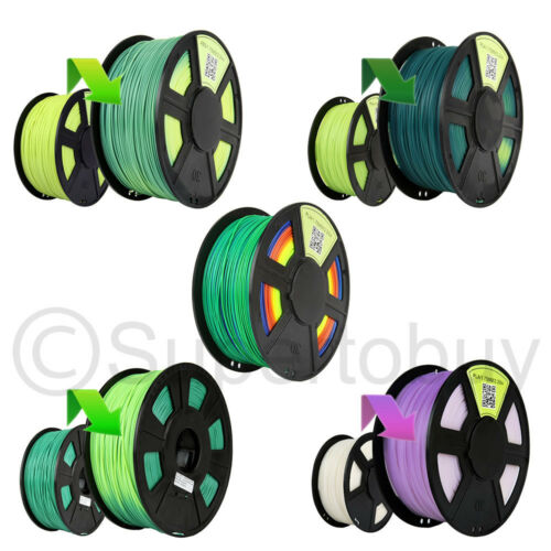 3D Printer Filament 1.75mm 3mm - Temperature /  UV Changing - ABS/PLA 1kg/2.2lb
