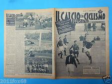 1956 il calcio e ciclismo illustrato n. 11 maldini milan inter pro patria napoli