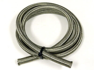 "AN8 -8 1/2"" DOUBLE STAINLESS STEEL BRAIDED HOSE 6FT"