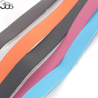 1M Genuine Leather Cord for DIY Jewelry Necklace Bracelet Making String 15mm
