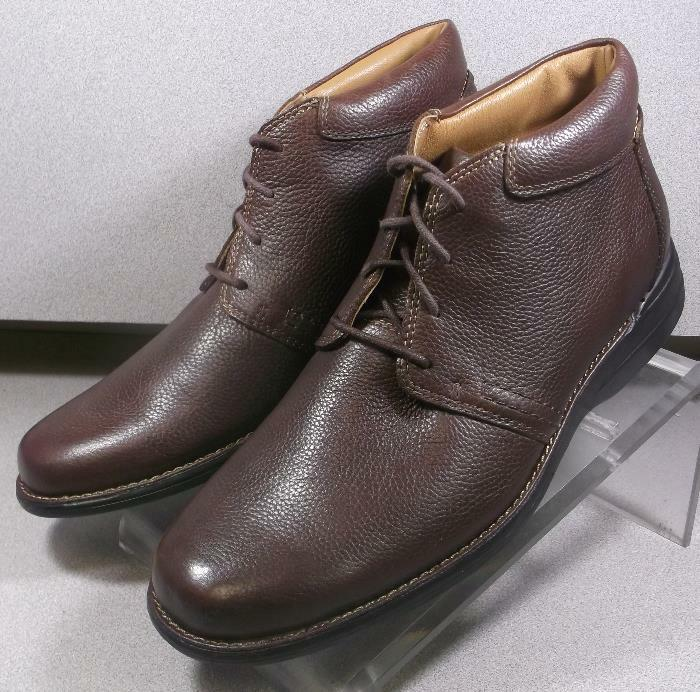 5913536 MSBT50 Men's shoes Size 10 M Brown Leather Boots Johnston & Murphy