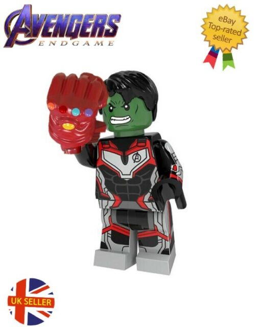 Avengers Hulk Figure Lego Fit Red Gauntlet Block End Game Cake Toppers UK Seller