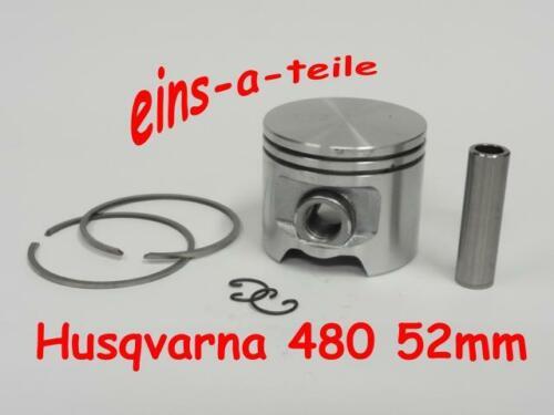 Pistón adecuado para Husqvarna 480 52mm nuevo calidad superior