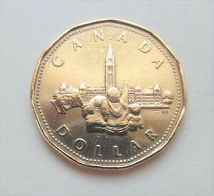 1992-CANADA-PARLIAMENT-BUILDINGS-LOONIE-combined-shipping