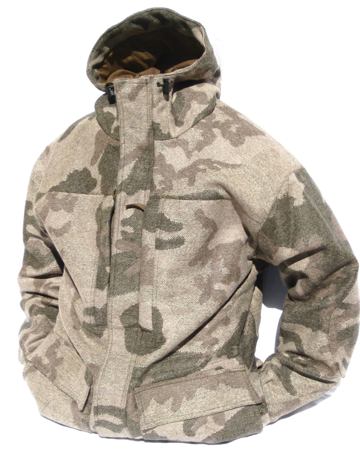 Cabela's Outfitter's Wool Parka Windshear Dry-Plus Hunting Outfitter Camo-Brown
