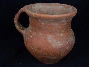 Antiquities Useful Ancient Large Size Teracotta Juglet Roman 200 Bc #sg2546 As Effectively As A Fairy Does Antiques