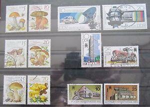 DDR-Briefmarken-1980-Speisepilze-Deutsche-Post-und-Leipziger-Messe
