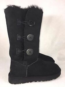 f20cbc3ea68 Details about Ugg Bailey Button Triplet Triple Button 1873 Women's Boots  Black Classic Tall