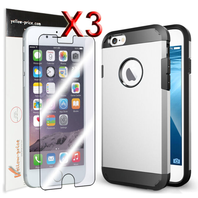 [Shockproof/Dirtyproof] iPhone 6 4.7'' Heavy Duty Tough Armor Case+3x Clear Film