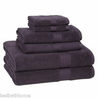 - 100% Egyptian Cotton 6 Piece Towel Ensemble, Purple Plum By Kassadesign