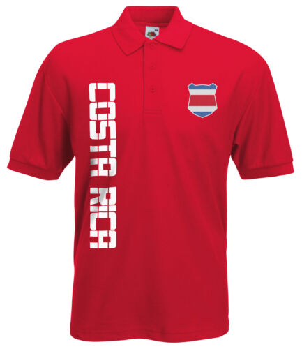 Costa Rica Polo-Shirt Trikot mit Name /& Nummer S M L XL XXL